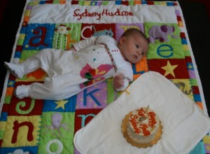Sydney and her two month cake web