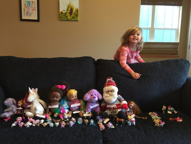 Sydney and her toy friends