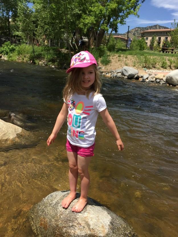 Playing in Boulder Creek