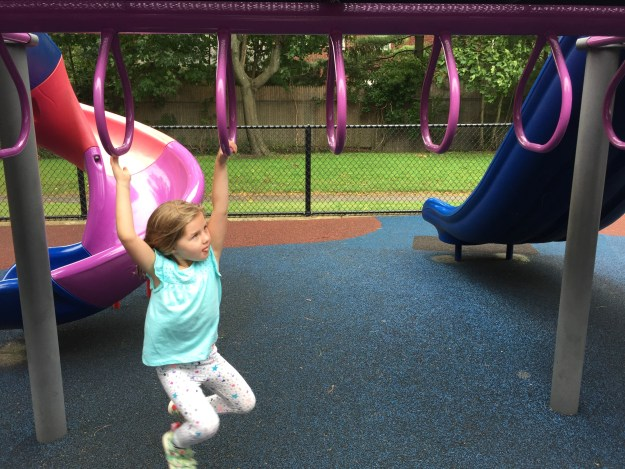 First Time Mastering the Monkey Bars
