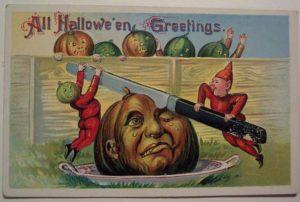 Vintage postcard Halloween