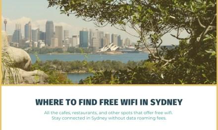Where to Find Free Wifi in Sydney, Australia