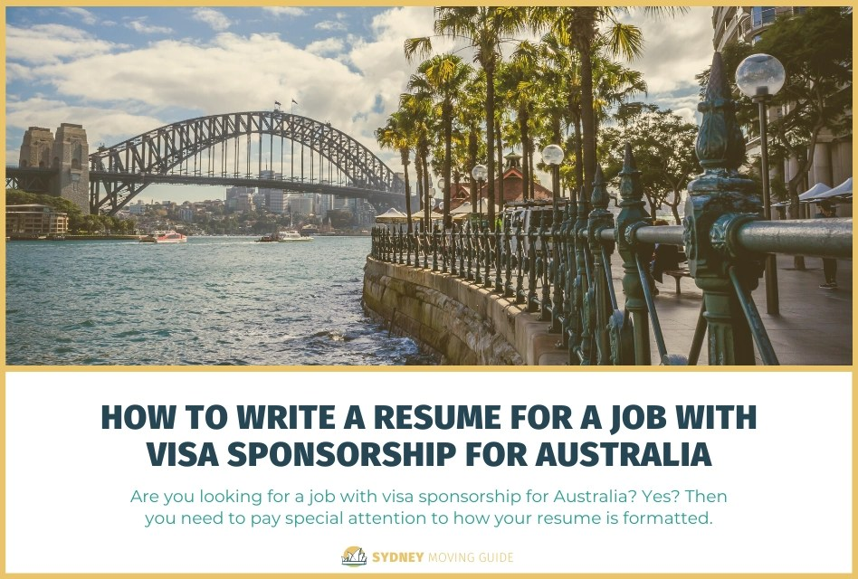 How to Write a Resume for a Job with Visa Sponsorship for Australia