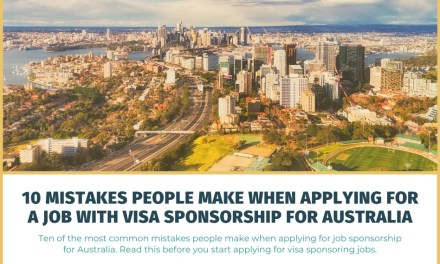 10 Mistakes People Make When Applying for a Job with Visa Sponsorship for Australia