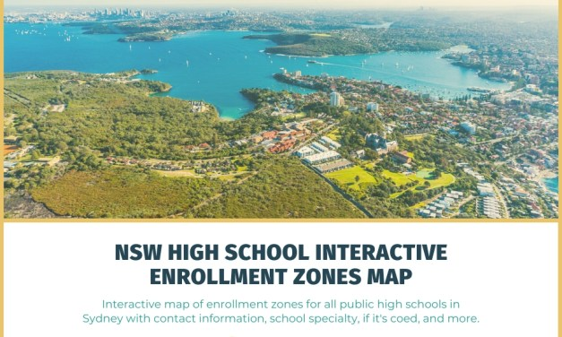 NSW High School Interactive Enrollment Zones Map