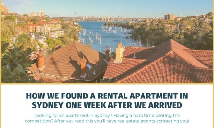 How We Found a Rental Apartment in Sydney One Week After We Arrived