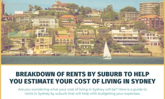 Breakdown of Weekly Rents by Sydney Suburb to Help You Estimate Your Cost of Living