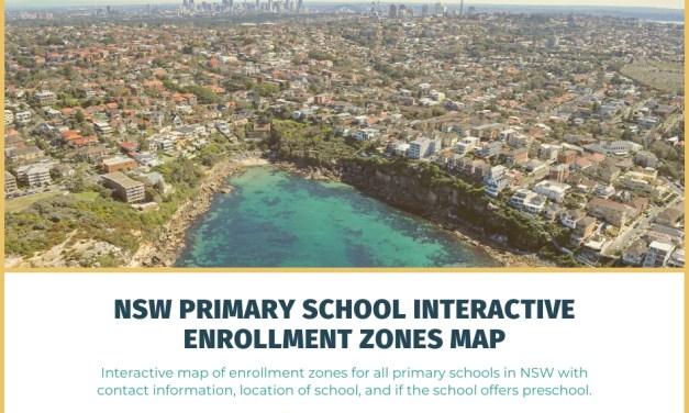 NSW Primary School Interactive Enrollment Zones Map