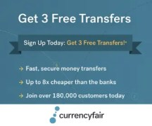 Sending Money to Australia? Get 3 Free Transfers with CurrencyFair