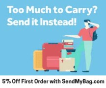 5% Off First Order with Send My Bag