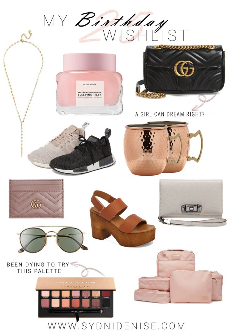 Sydni Denise Birthday wishlist