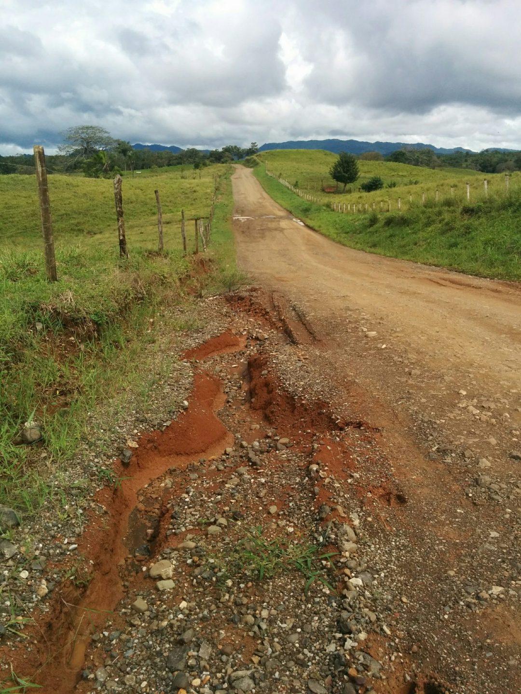 Erosion along road