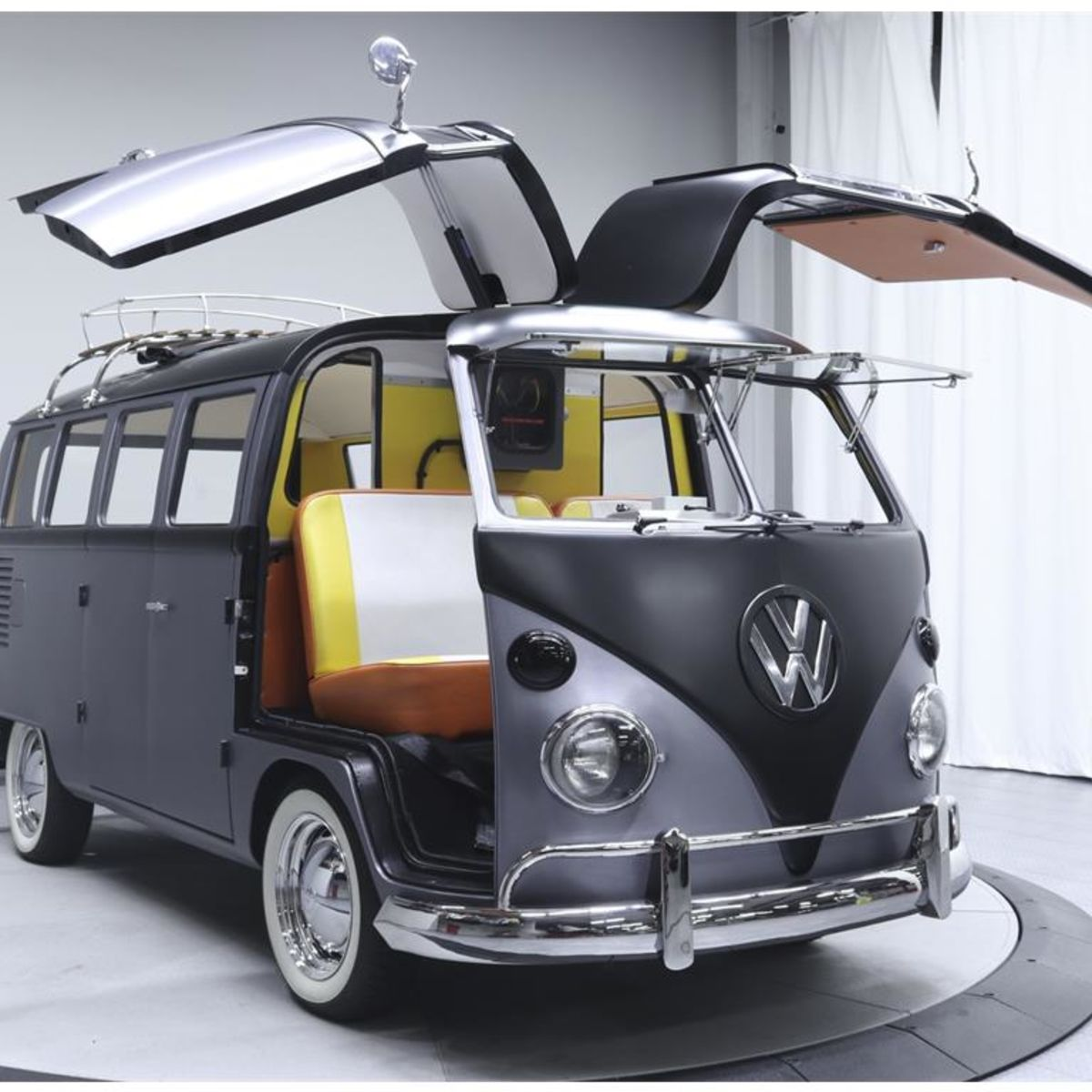 back to the future styled 1967 volkswagen bus lets you travel in time theoretically  [ 1200 x 1200 Pixel ]