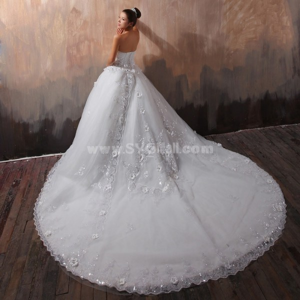Ball Gown Strapless Sweetheart Cathedral Train Wedding