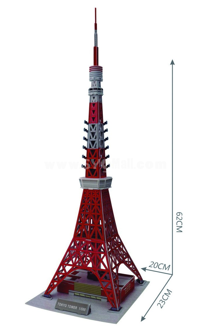 Cute  Novel DIY 3D Jigsaw Puzzle Model  Tokyo Tower