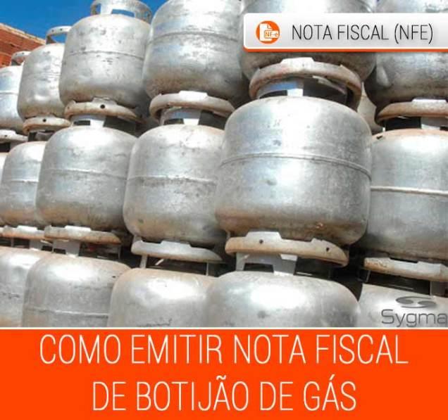 Preencher nota fiscal de botijao de gas