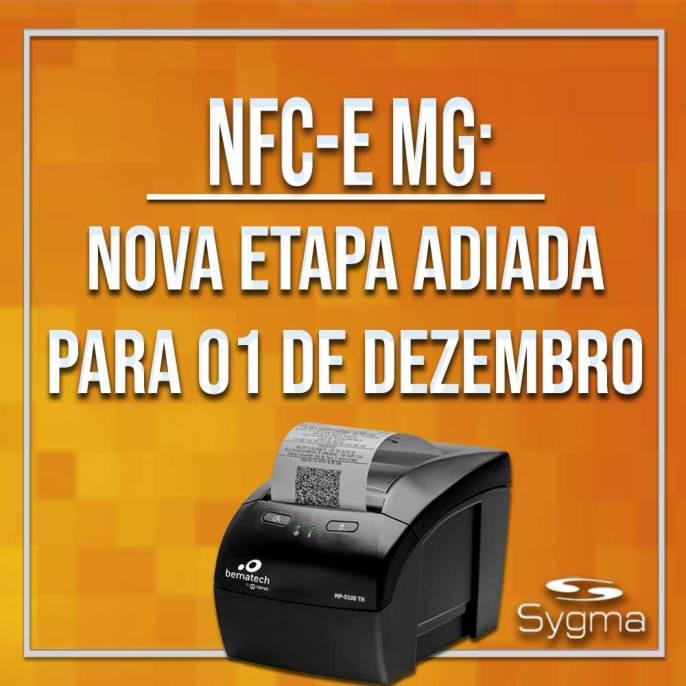 Impressora imprimindo NFCe MG com fundo laranja