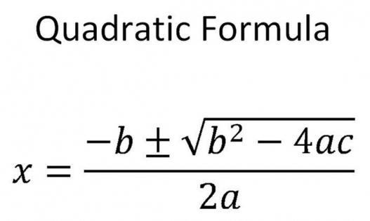 Kare denklem kök formülü
