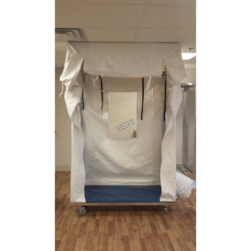 Temporary containment tent for asbestos abatement and decontamination