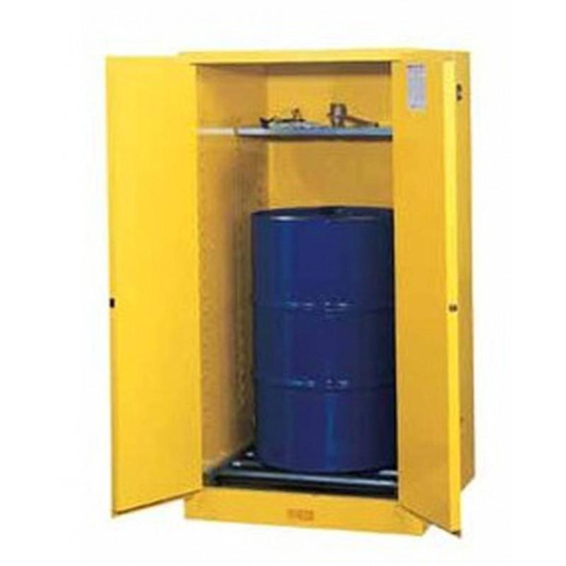Justrite vertical storage cabinet for drums of 55 US