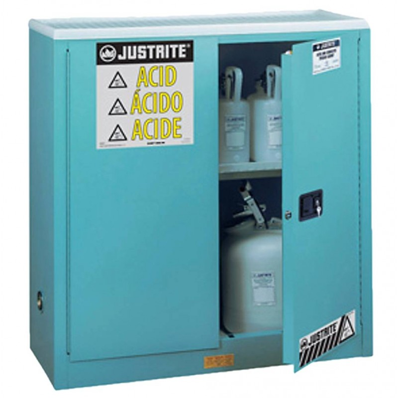 Justrite cabinet for acids  corrosives 30 US gal FM