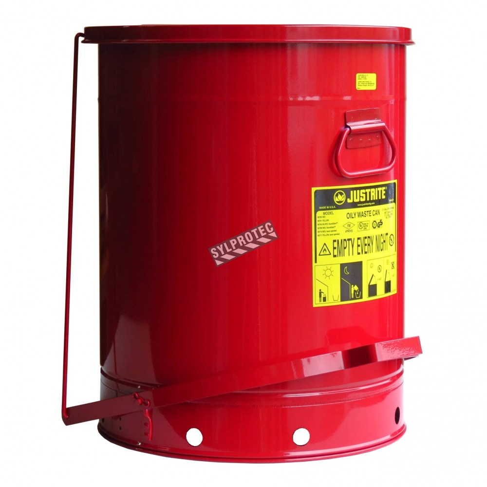 21 gallon container with pedal for oily or solventsoaked