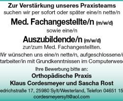 Orthopädische Praxis Klaus Cordesmeyer und Sascha Rost