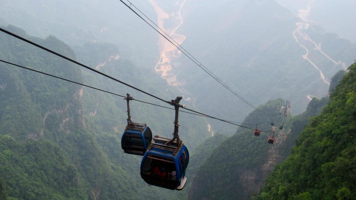 Ascension du Mont Tianmen à Zhangjiajie