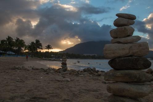 Coucher de soleil sur la montagne Isabel de Torres.