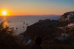 Le coucher de soleil d'Oia.