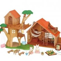Sylvanian Families Log Cabin Living Room Furniture Set Home Design Ideas For Small Buy Treehouse & Gift Online, - ...