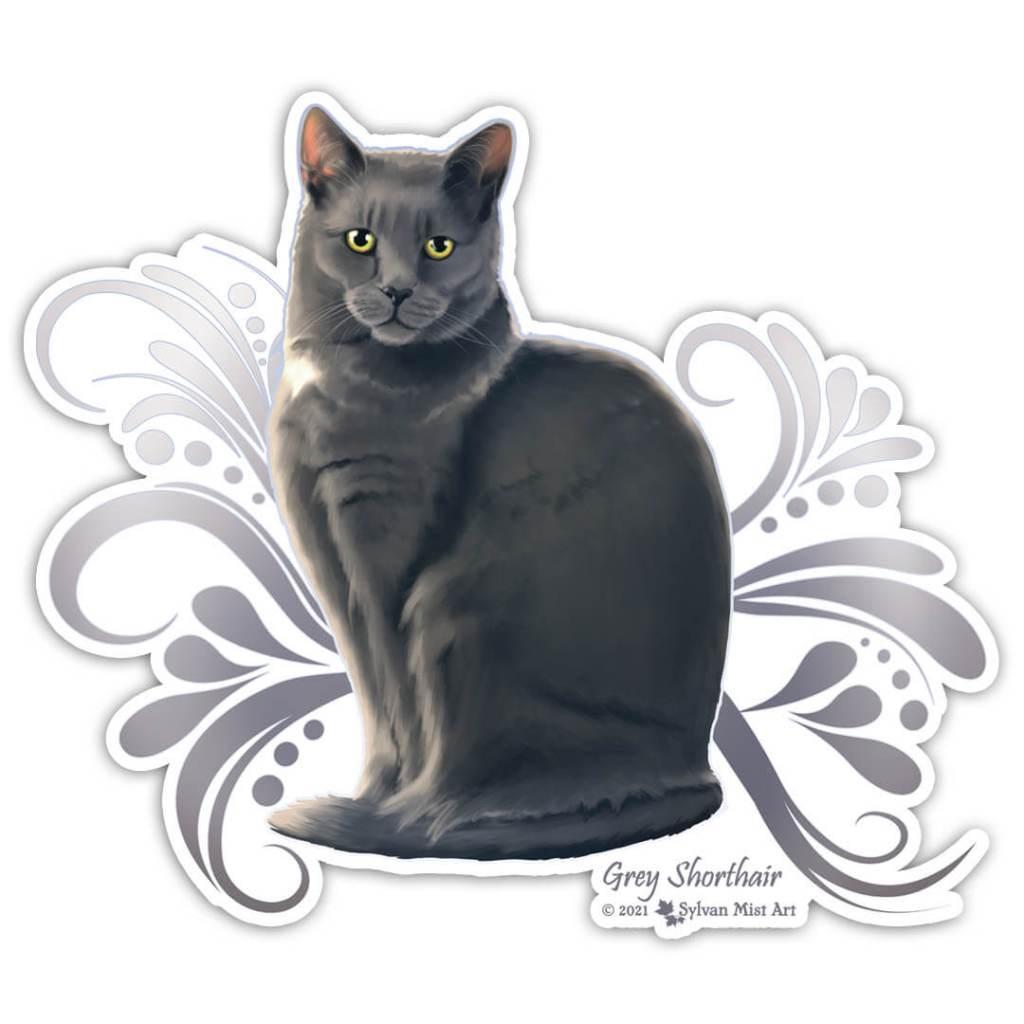 Grey cat artwork