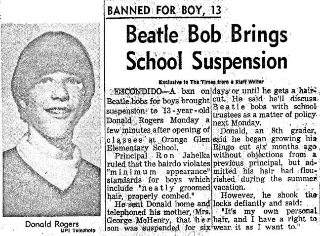 1964- My Beatle Haircut