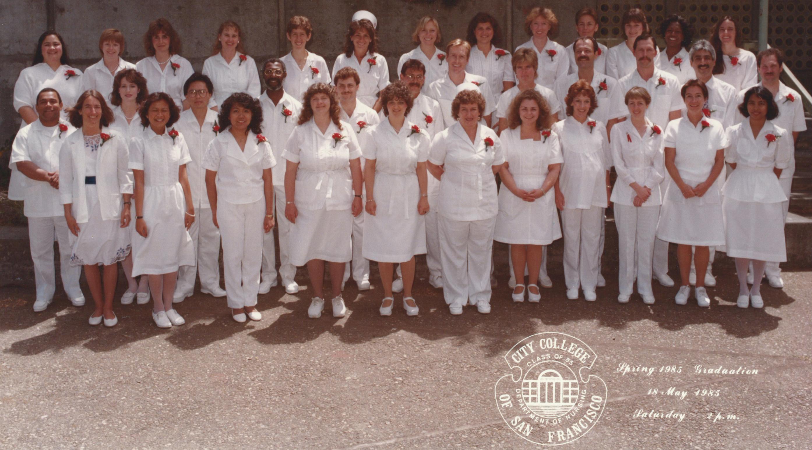 1985- Graduation from Nursing School