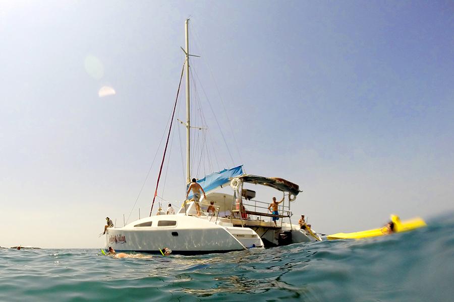 catamaran trip costa rica snorkeling kayak tamarindo