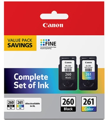 Canon PG-260 Pigment Black and CL-261 Color