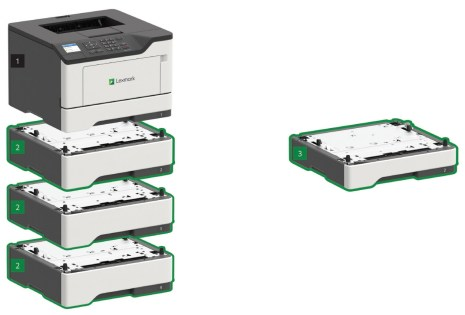 Upgradable Input Capacity for High Print Volume