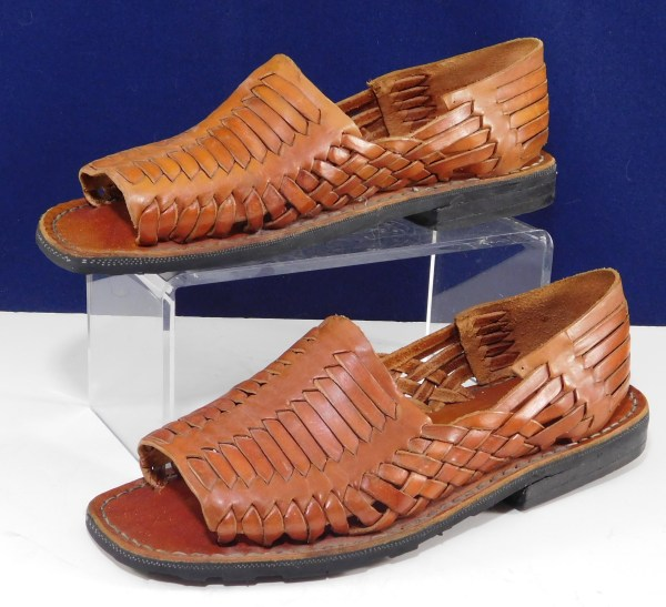 Authentic Huarache Sandals Reddish Brown Mexican