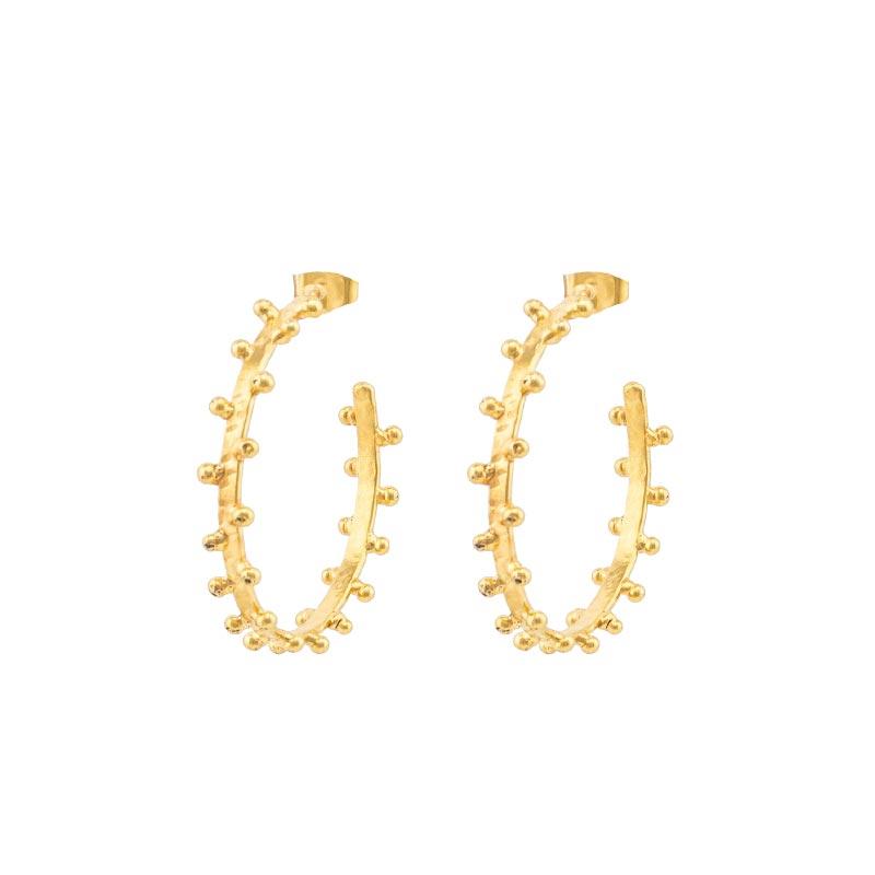 Golden Dots Earrings