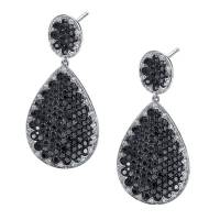 Black and White Diamond Earrings | Sylvie