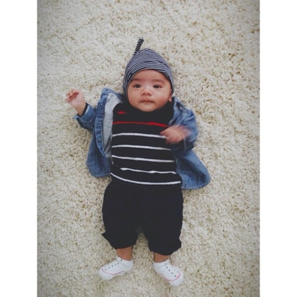 show your stripes {for his first visit to gaphq!}