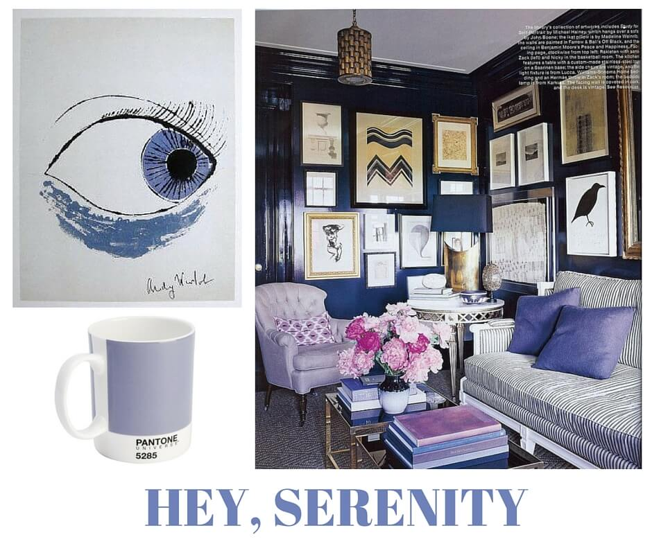 sylvie in the sky / pantone color of the year serenity / winter color trend / periwinkle / home decor trend / canva / inspiration board / color collage | Serenity Pantone Color of the Year featured by popular San Francisco style blogger, Sylvie in The Sky