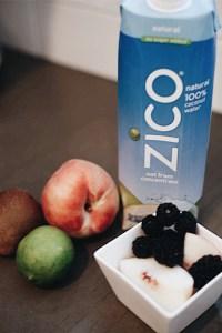 Kiwi Blackberry White Peach Coconut Water Popsicles Zico
