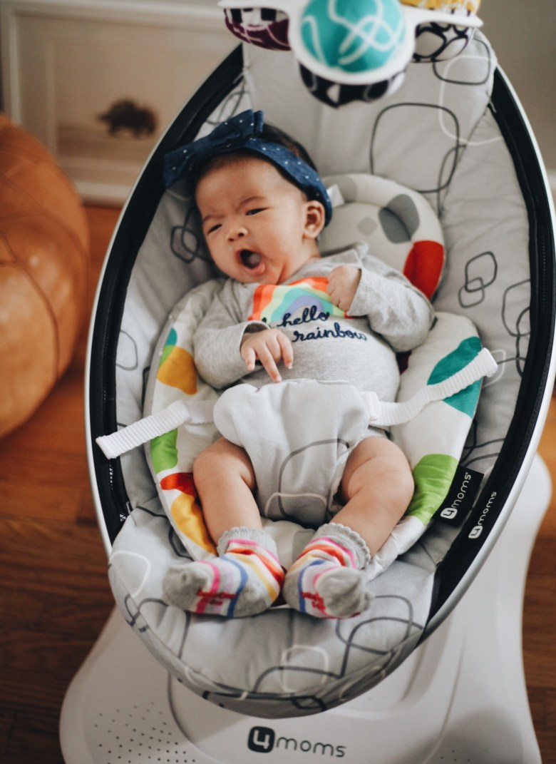4moms mamaroo infant swing review featured by popular San Francisco lifestyle blogger, Sylvie in The Sky
