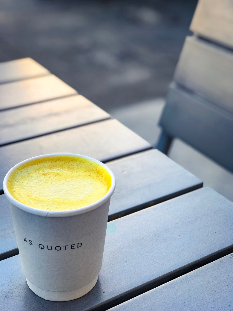 DRINK: GOLDEN MILK LATTE RECIPE WITH TURMERIC featured by top San Francisco foodie blogger Sylvie in the Sky