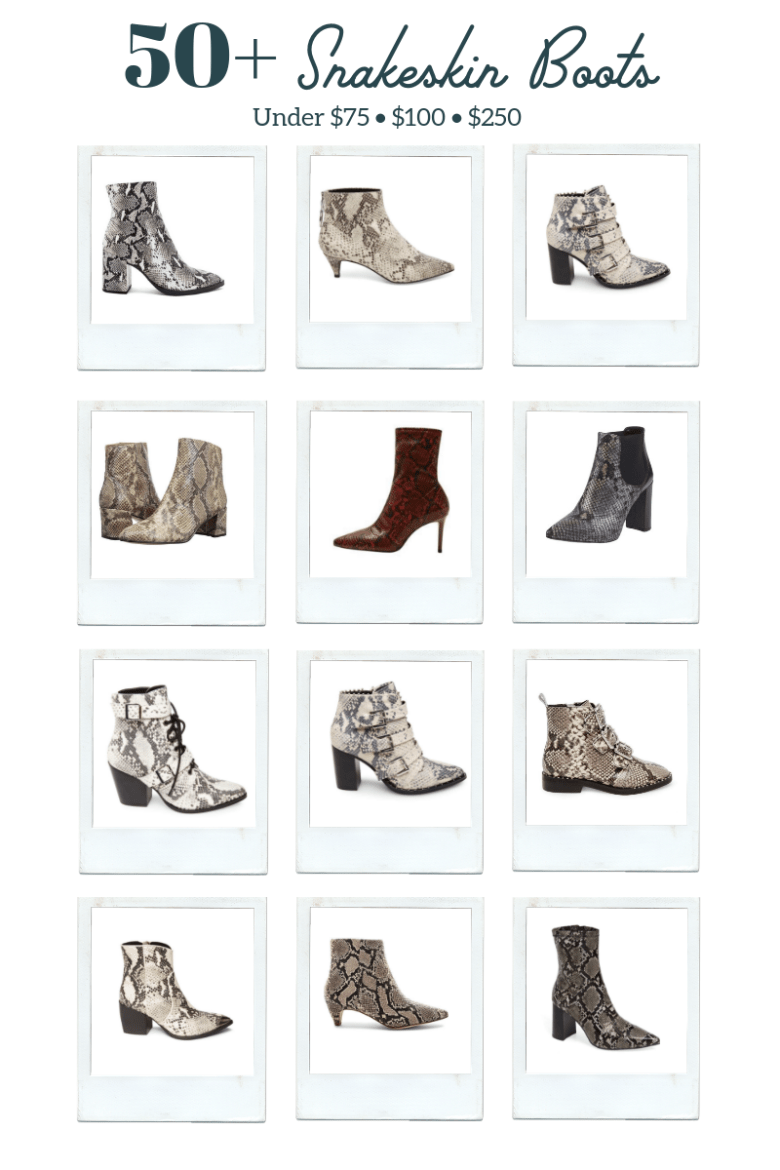 Best Snakeskin Boots for Women featured by top US fashion blogger Sylvie in the Sky