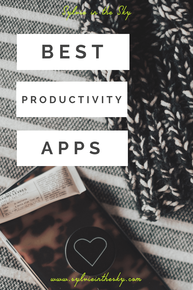 BEST PRODUCTIVITY APPS featured by top US lifestyle blogger Sylvie in the Sky