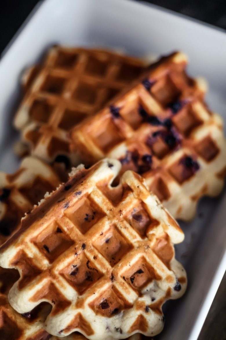 Gluten Free Belgian Waffle Recipe featured by top US lifestyle blog Sylvie in the Sky