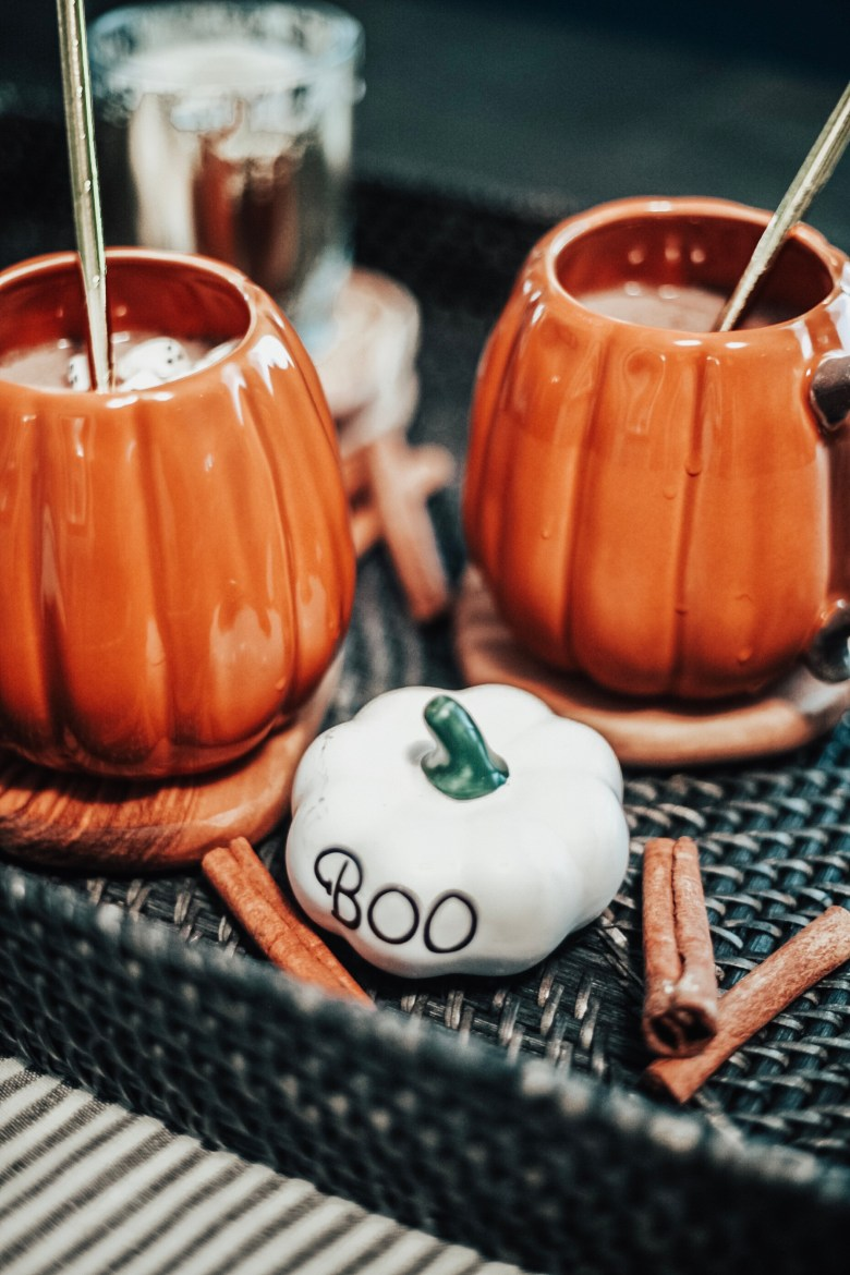 Halloween Hot Chocolate aka Pumpkin Spice Moon Milk Recipe featured by top US lifestyle blogger, Sylvie in the Sky