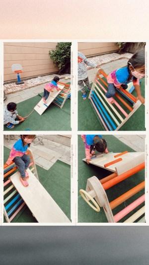 Home Eco-Playground Montessori pikler triangle Ideas